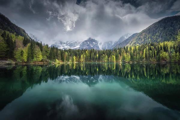 Dolomites Photograph - Moody Day by Clara Gamito