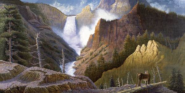Wall Art - Painting - Moody Falls  by Gregory Perillo