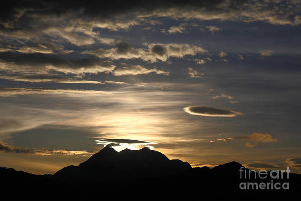 Photograph - Moody Skies Over Mt Illimani by James Brunker