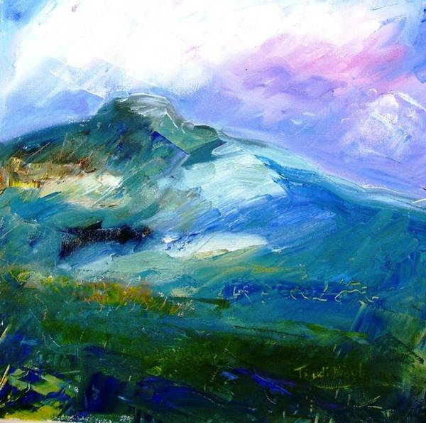 Forty Painting - Moody Sky Over Eagle Hill In Spring  by Trudi Doyle