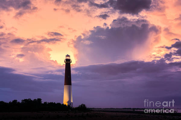 Barnegat Lighthouse Photograph - Moody Sunset At Barnegat Lighthouse by Michael Ver Sprill