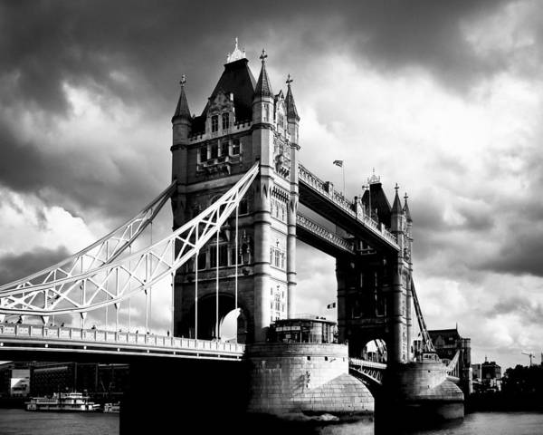 Photograph - Moody Tower Bridge by Mark Tisdale
