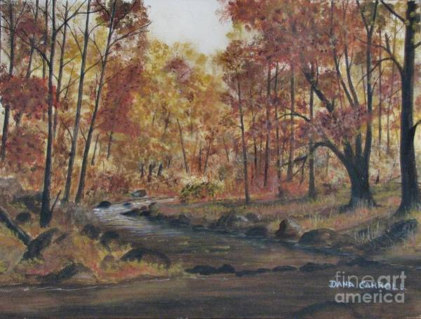 Wall Art - Painting - Moody Woods In Fall by Dana Carroll