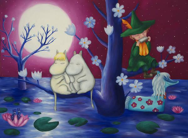 Moomintroll Painting - Moomin World  by Maria Kucera