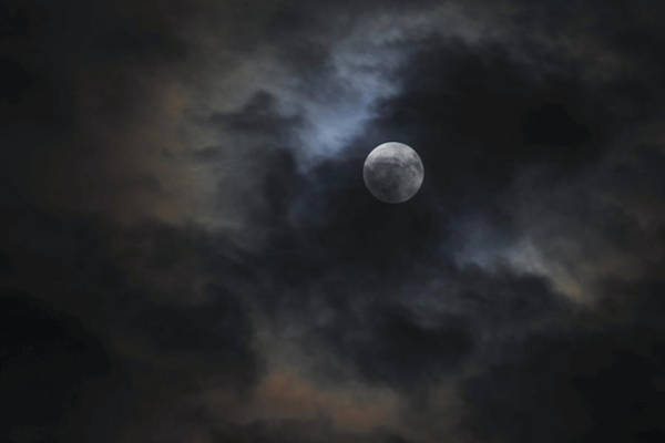 Photograph - Moon And Clouds by Terry DeLuco