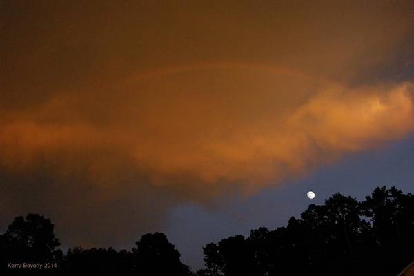 Photograph - Moon And Rainbow by Brandy Beverly