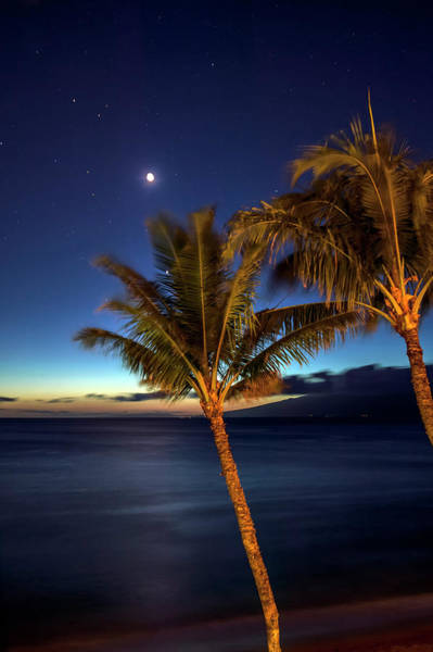 Wall Art - Photograph - Moon And Stars In The Night Sky by Scott Mead