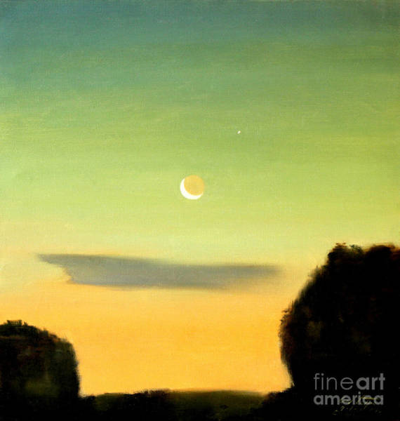 Painting - Moon And Venus by Art By Tolpo Collection