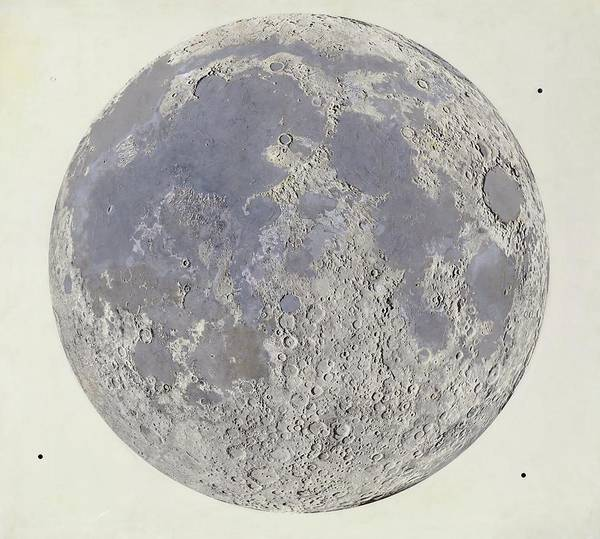 Wall Art - Photograph - Moon At The End Of The Imbrian Period by Library Of Congress, Geography And Map Division/science Photo Library