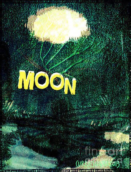 Wall Art - Digital Art - Moon by Currie Silver