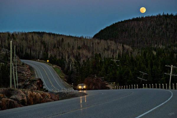 Photograph - Moon Dusk by Doug Gibbons