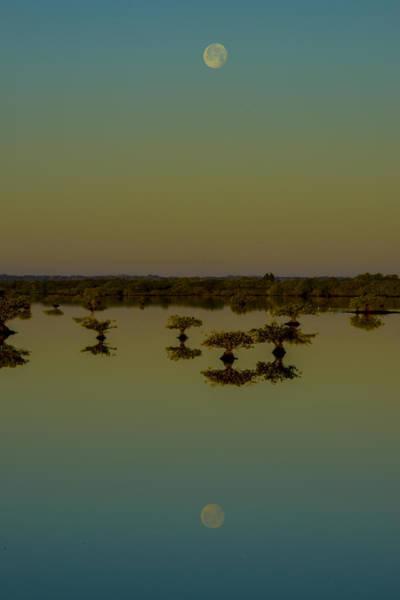 Blye Photograph - Moon-fall by Kenneth Blye