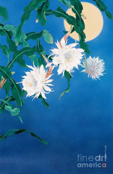 Japanese Art Digital Art - Moon Flower by MGL Meiklejohn Graphics Licensing