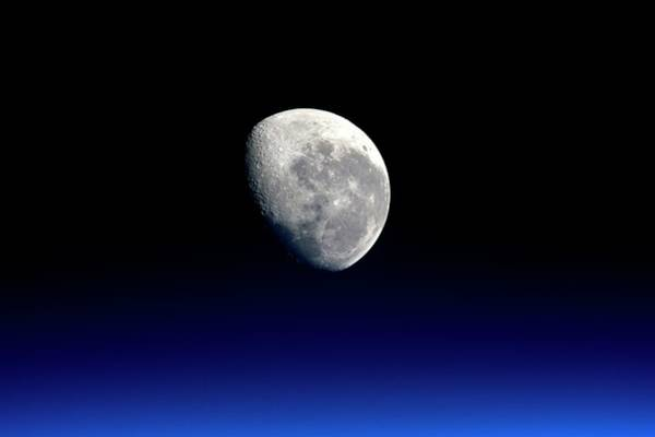Tweets Photograph - Moon From The International Space Station by Nasa/esa/science Photo Library