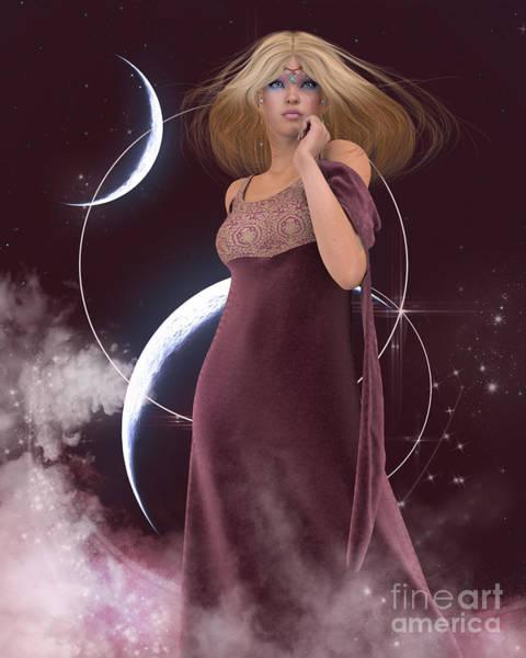 Digital Art - Moon Goddess by Elle Arden Walby