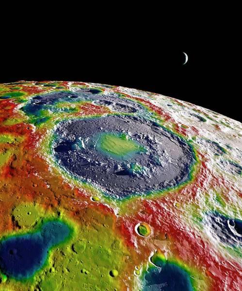 Overlay Photograph - Moon Gravity Map by Nasa