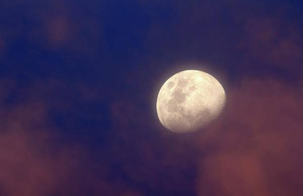 Astronomical Twilight Photograph - Moon In Clouds by Luis Argerich