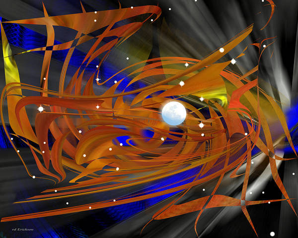 Digital Art - Moon In Leo - Abstract by rd Erickson