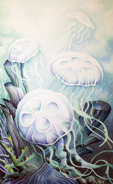Painting - Moon Jelly by William Love
