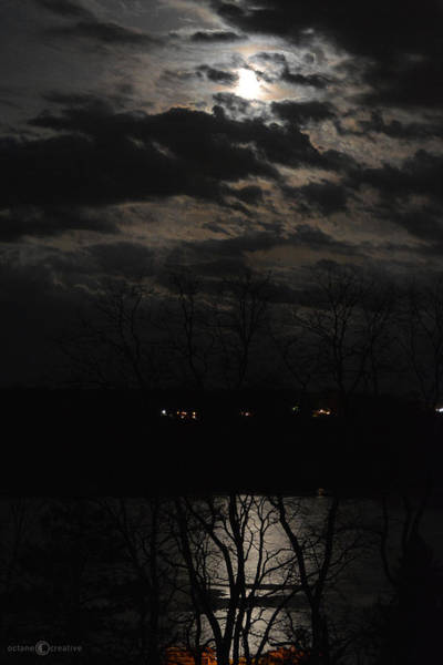 Photograph - Moon On The River by Tim Nyberg