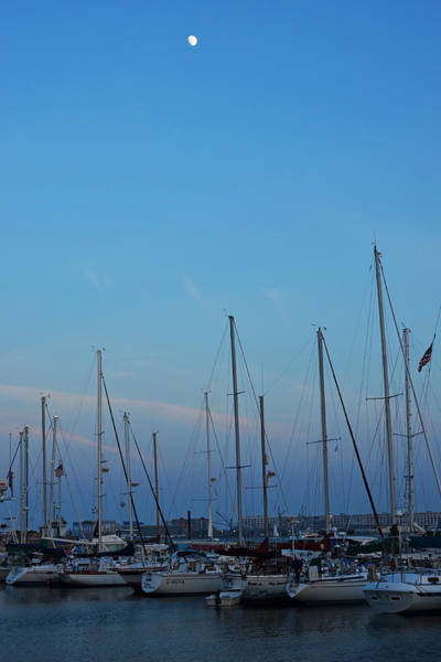 Photograph - Moon Over Boats In East Boston by Toby McGuire
