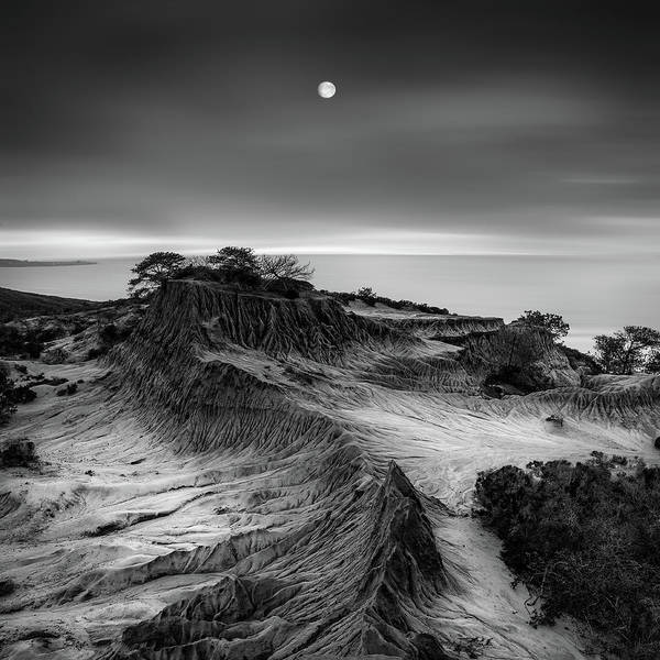 Rock Formation Photograph - Moon Over Broken Hill by Yi Fan