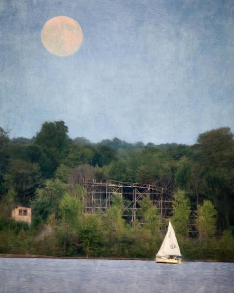 Photograph - Moon Over Chippewa Lake 3 by William Beuther