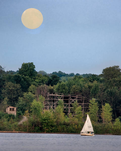 Photograph - Moon Over Chippewa Lake by William Beuther