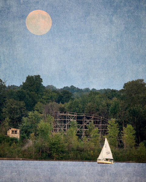 Photograph - Moon Over Chippewa Lake 2 by William Beuther