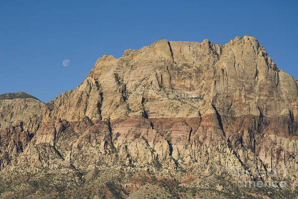 Photograph - Moon Over Cliffs by Dan Suzio