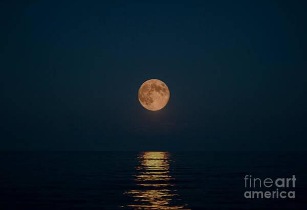 Wall Art - Photograph - Moon Over Lake Of Shining Waters by Barbara McMahon