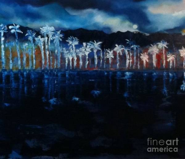 Wall Art - Painting - Moon Over Palm Springs by Jane Ubell-Meyer