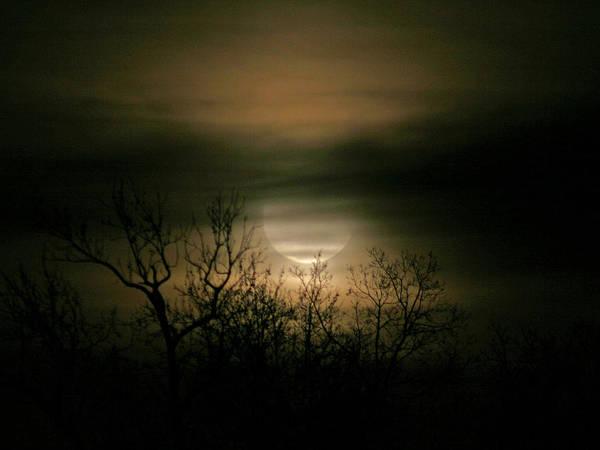 Moon Over Prince George Art Print