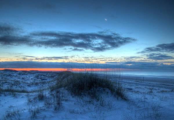 Wall Art - Digital Art - Moon Over Sunrise by Michael Thomas