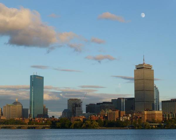 Photograph - Moon Over The Prudential In Boston by Toby McGuire