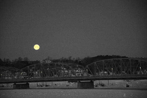 Photograph - Moon Over The Steel Bridge by Larry Peterson