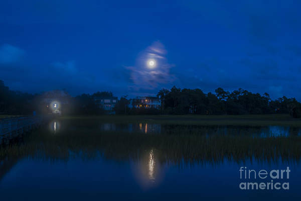 Photograph - Moon Over The Wando by Dale Powell
