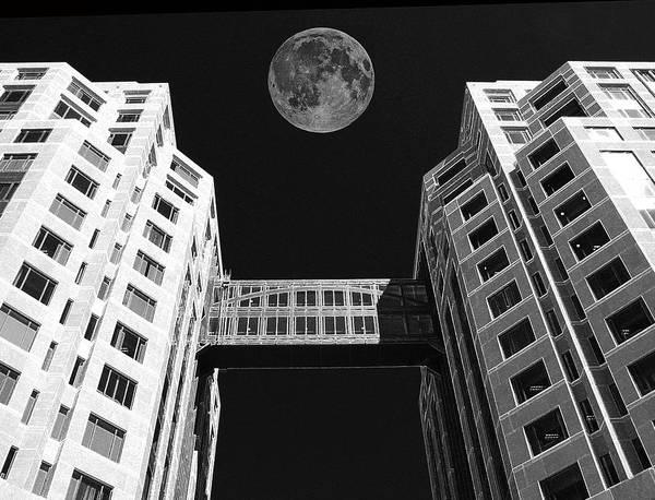 Moon Over Twin Towers Art Print