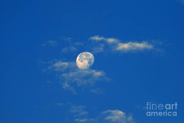 Moon Over Washington Dc Art Print