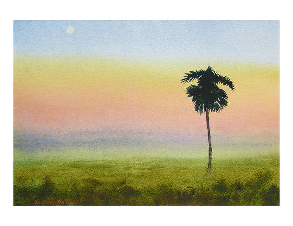 Painting - Moon Palm by Peter Senesac