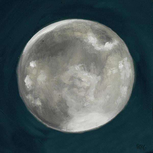 Wall Art - Painting - Moon Phase I by Tiffany Hakimipour