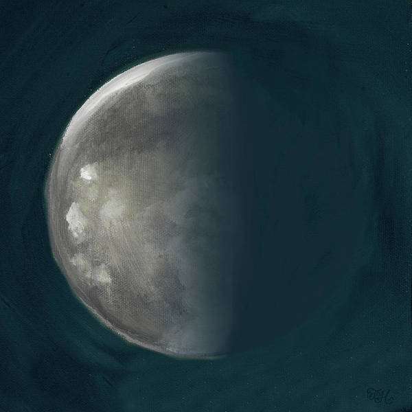 Wall Art - Painting - Moon Phase IIi by Tiffany Hakimipour