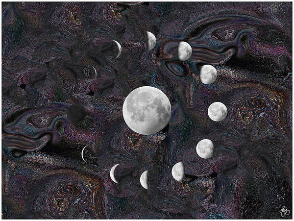 Photograph - Moon Phases In An Imagined Universe by Wayne King