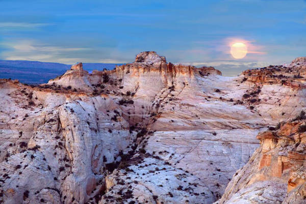 Painting - Moon Rising Over Escalante Staircase by Bob and Nadine Johnston