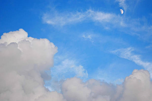 Photograph - Moon Rising Over The Clouds by Toby McGuire