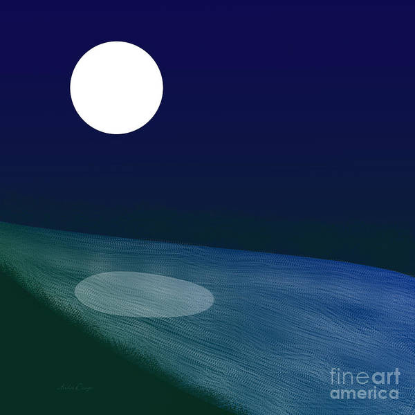 Digital Art - Moon River by Andee Design