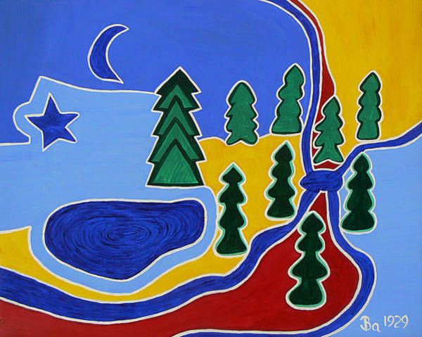 Painting - Moon River Tyes by Barbara St Jean