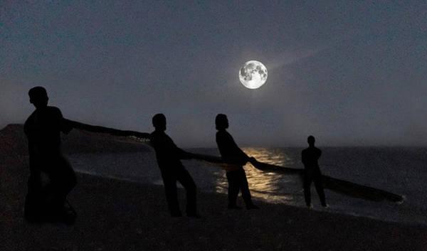 Digital Art - Moon Shadows  by Eric Kempson
