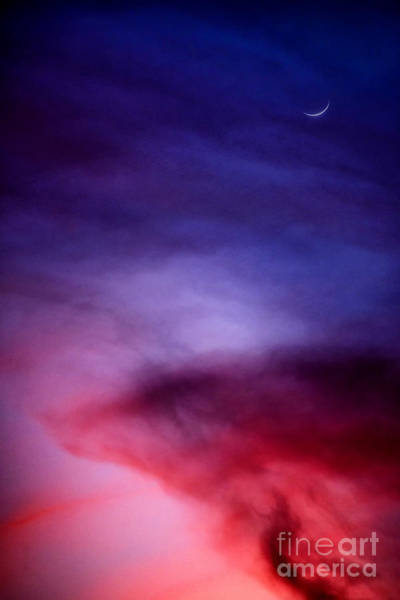 Sliver Photograph - Moon Sliver And Afterglow by Thomas R Fletcher