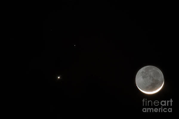 Photograph - Venus Mars Moon by Dale Powell